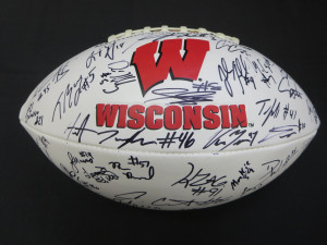 Wisconsin Badgers Autographed Football