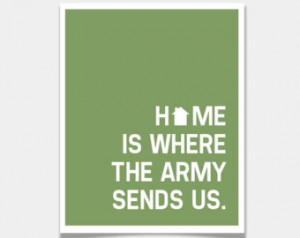 Army Sends Us pos ter print / Inspirational Quote sea man deployment ...