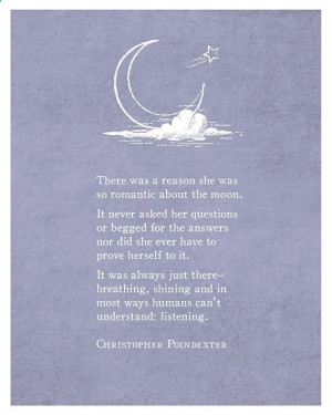 Poetry Art – Christopher Poindexter – Poetry Print – Moon Quote ...
