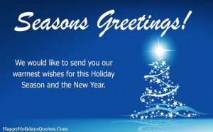 Christmas Holiday Card with New Year Wishes