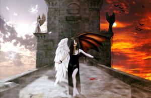Half Angel Half Devil by ViolenceX7 on deviantART