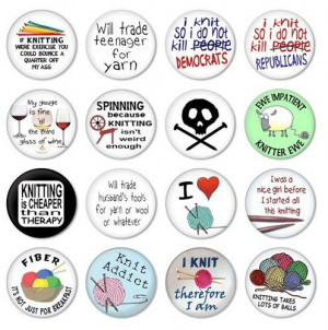 funny knitting sayings on buttons