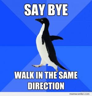 Awkward Penguin Meme