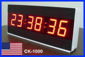 LED Large Digital Wall Clock with Seconds - 12 or 24 Hour Clock