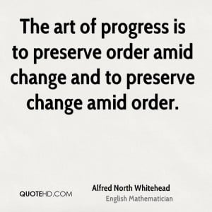 Alfred North Whitehead Change Quotes