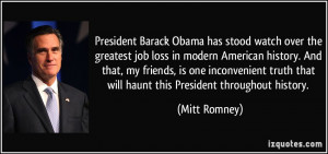 President Barack Obama has stood watch over the greatest job loss in ...