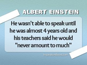 Famous Failures of Albert Einstein
