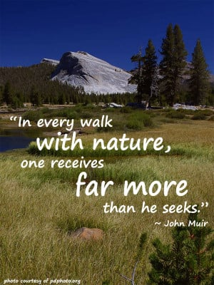 In every walk with nature one receives far more than he seeks. ~ John ...
