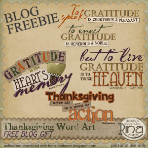 Grateful Hearts: Thanksgiving Freebie