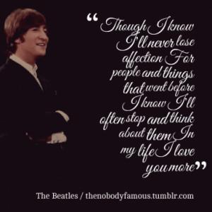 Quotes About: beatles love beatles lyrics