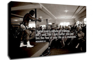 Muhammad Ali Quote Print, Canvas Wall Art, Size A1