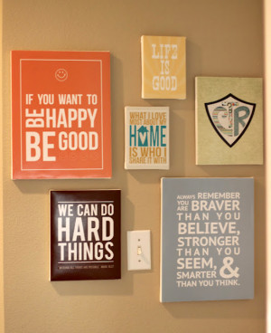 DIY quote canvas wall art.
