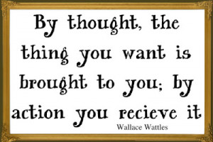 framed picture of a Wallace Wattles quote