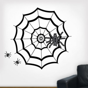 Spooky spiders and spider web This product is made in the USA and ...