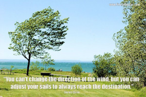 "POSITIVE THINKING--- ""You can't change the direction of the wind ..."