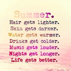 salt in the air sand in my hair / Summer quote