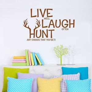 ... -HUNT-Wall-Decals-Hunting-Wall-Decor-Vinyl-Stickers-Quotes-Graphics