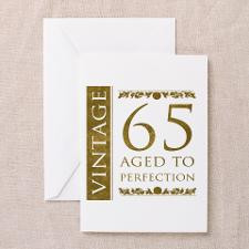 Fancy Vintage 65th Birthday Greeting Cards (Pk of for