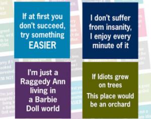 Sarcastic Sayings Humorous - 1 inc h square images - Digital Collage ...