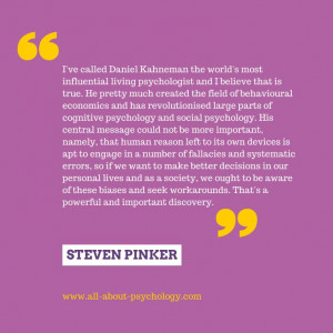 Steven Pinker quote paying tribute to the great psychologist Daniel ...