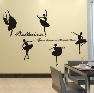 ... inspirational wall quotes stickers for ballet girls room decor free