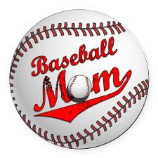 Baseball Mom Round Car Magnet for