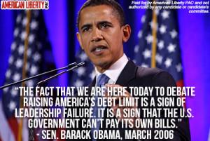 Obama Debt Ceiling Quote 2013, Debt Ceiling Bush Vs. Obama, , Obama's ...