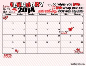 Cute Calendar February Free