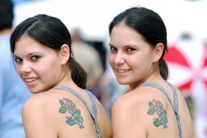 Day Twin Flower Tattoo