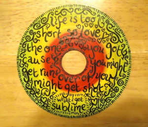What I Got Sublime lyrics Painted Vinyl Record by valderie on Etsy, $ ...