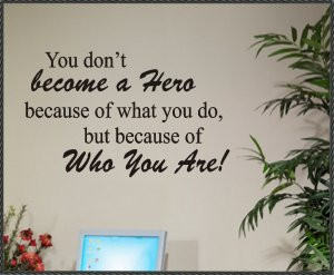 vinyl wall quotes words decals hero superhero quote quotes sayings ...