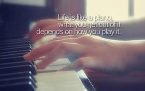 life life quote piano