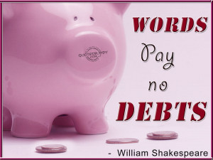 Debt Quotes Graphics, Pictures