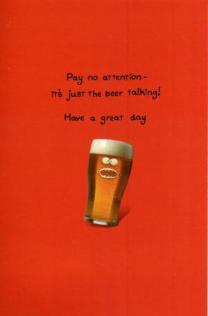Beer Funny Birthday Funny talking beer birthday
