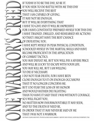 Official Site of One Warrior's Creed