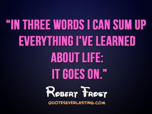 Three Words Can Sum...