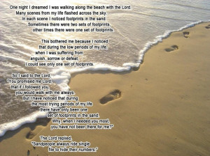 The Famous Jesus` Footsteps Poem, Retold [Pic]