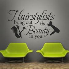 ... hairdresser beauty Comb decal Quote Vinyl Wall Art Decal Salon Decor