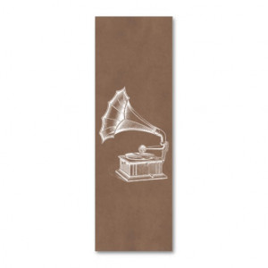 ... Record Player Musical Parchment Pack Of Skinny Business Cards