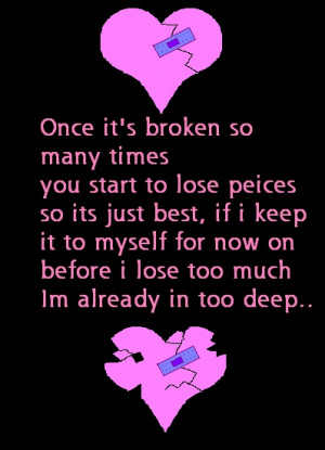 poems and songs for a broken hearted grl ~~t.m.h. :(