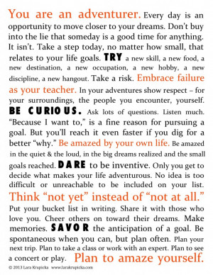 The Bucket List Life Manifesto (click to download)