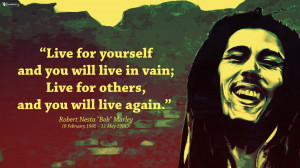 Bob Marley Quote Wallpaper
