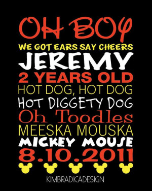 Mickey Mouse Clubhouse Mickey Quotes, 8x10 Digital Print on Etsy, $20 ...