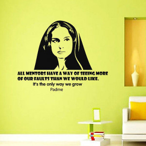 Vinyl Wall Decals Padme Star Wars Quote Decal Sayings Stickers Home ...
