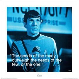 Star Trek - Mr Spock, Die Bedürfnisse Vieler Sind Wichtiger Als Die ...
