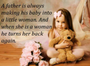 Father is always making his baby into a little woman and when she is ...
