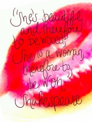 Shakespeare quote!