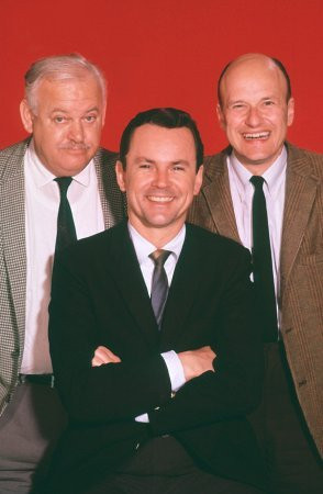 Bob Crane, John Banner, Werner Klemperer CBS Hogan's Heroes (c. 1968)