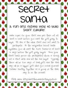 Secret Santa Questionnaire, #Secret Santa Invitation, #Secret Santa ...