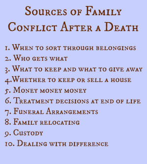 many other sources of strain and conflict that can arise for families ...